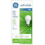 Ge Lighting 97493 30, 70, 100-Watt, Soft White A21 Bulb - 1 Ea