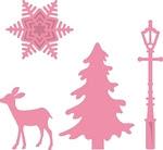 Col1330 Christmas village decoration set