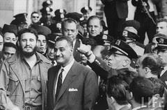 Nasser and Fidel in the UN