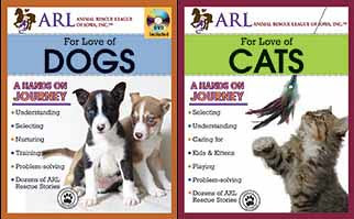 bundle of books for the love of cats and dogs