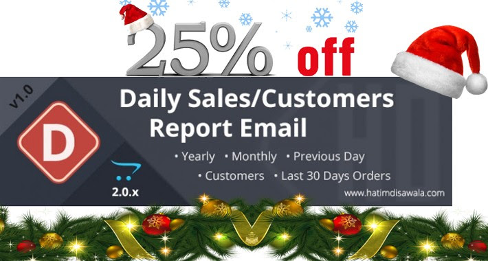 OpenCart - Daily Sales/Customers Report Email v.2.x.x