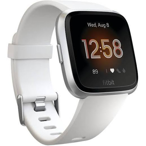 Fitbit Versa - Smart Watch with Heart Rate Monitor - Lite Edition - S/L - White