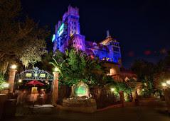 Disney - Hollywood Tower Hotel at Night