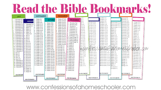 Read the Bible in Two Years Bookmarks - Confessions of a Homeschooler