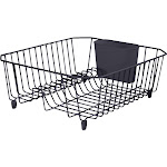 Rubbermaid 12.49 In. x 14.31 In. Black Wire Sink Dish Drainer 2104445