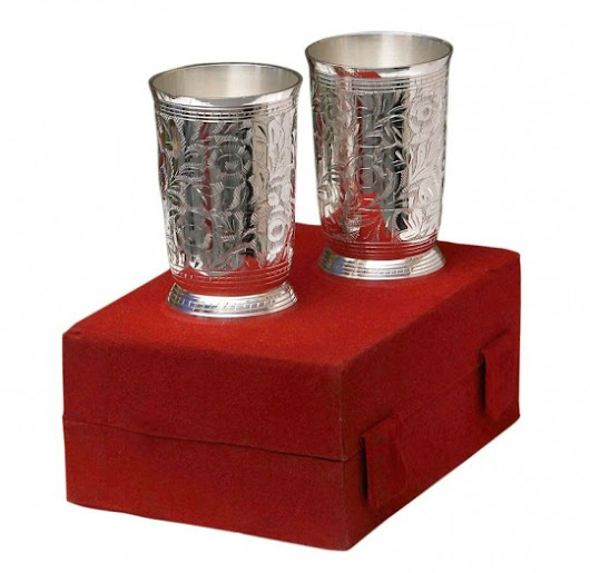 Quench Your Thirst with Royalty in Silver Plated Tumblers