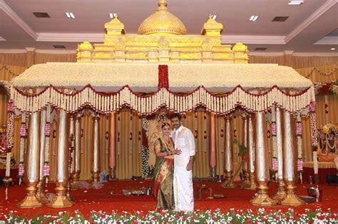 tamil marriage reception stage decoration   Google Search