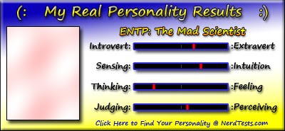 Take the Fun Personality Test @ NerdTests.com