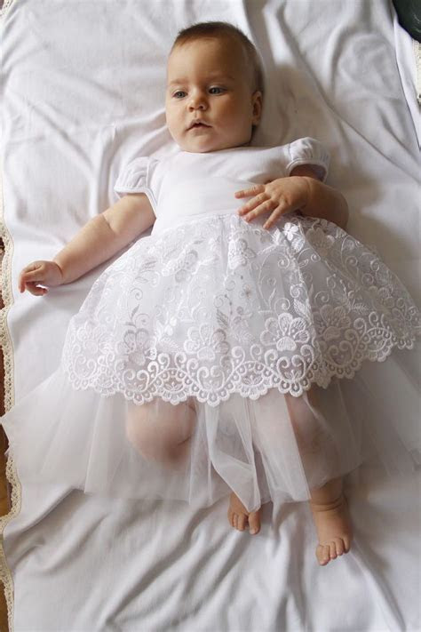 Details about Baby Girl Baptism Dress Christening Gown