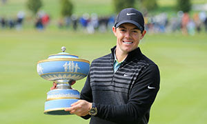Rory with Match Play trophy