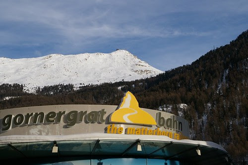 Zermatt要上Gornergrat的車站