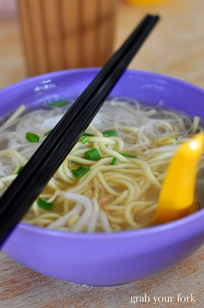 Egg and rice noodles