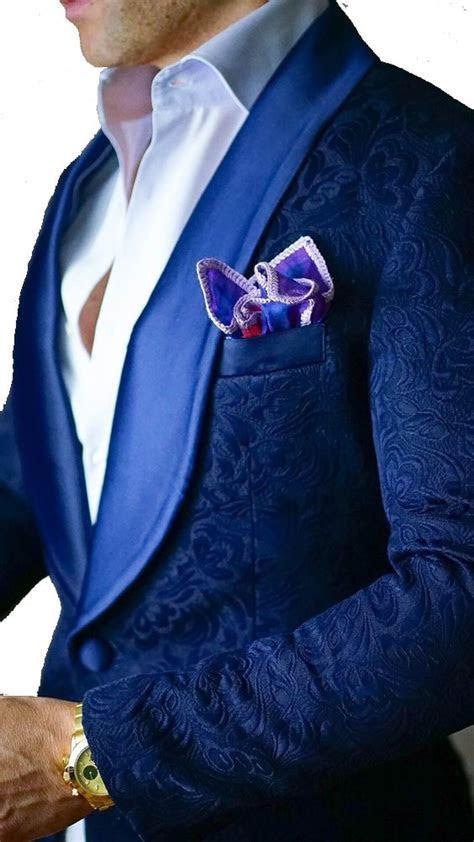 2018 Brand Royal Blue Mens Floral Blazer Designs Mens