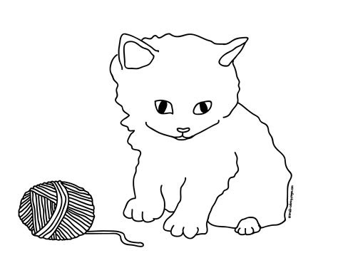 coloring pages cats  kittens coloring pages