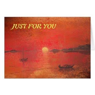 Spanish Sunset Greeting Card