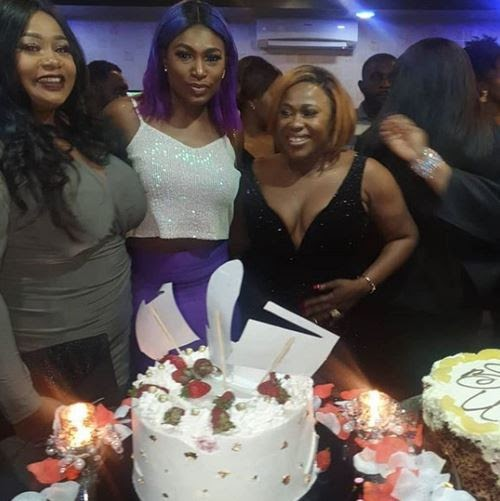 PHOTOS: Top Nigerian actresses have showed up for the 40th birthday party bash of their colleague, Uche Jombo