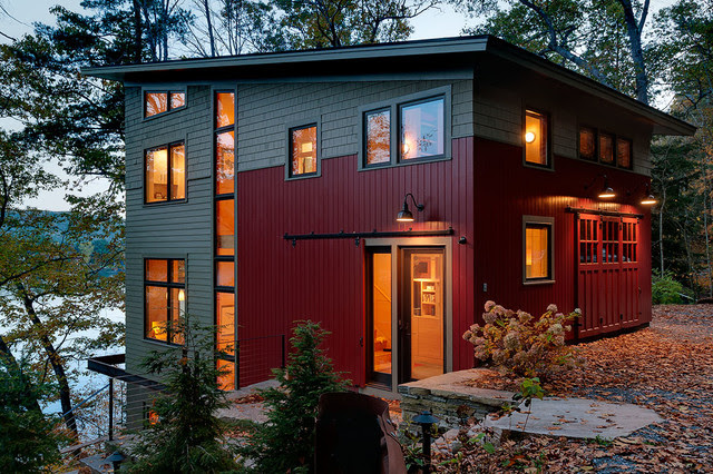 Lake House  Contemporary  Exterior  Burlington  by Creative Lighting Designs