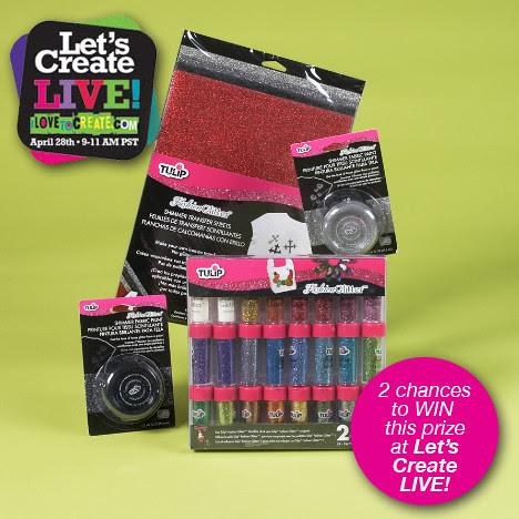Tulip® Fashion Glitter® Prize for Let's Create LIVE!