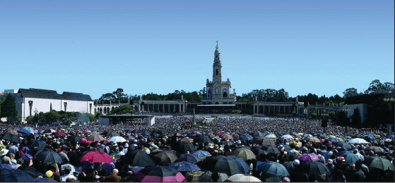 Millions of pilgrims come every year to Our Lady's shrine at Fatima to seek hope for today's crises.