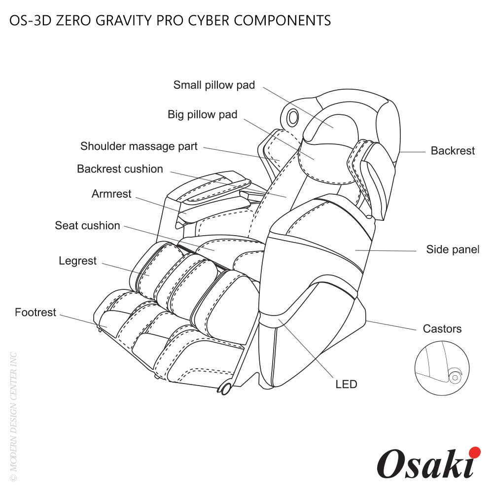 OS-3D Pro Cyber Massage Chair | Osaki | MetropolitanDecor