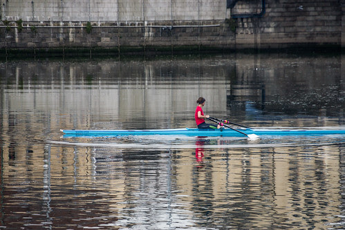 Rowing On The River Lagan: Belfast - Northern Ireland by infomatique