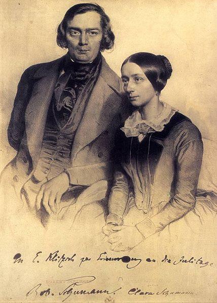 Archivo: Robert u Clara Schumann 1847.jpg