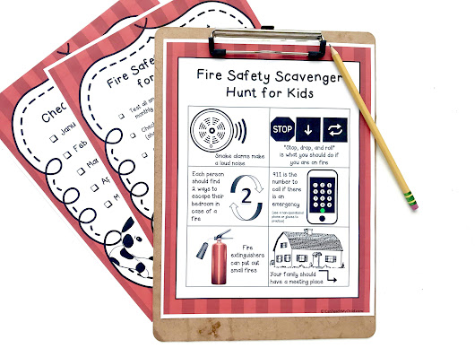 Fire Safety Checklist and Scavenger Hunt - I Can Teach My Child!