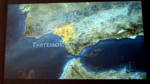 Mapa de la posible ubicación de la Atlántida.
