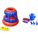 Swimline 90286 Slot Slam Disc Toss Inflatable Floating Pool Game + Electric Pump