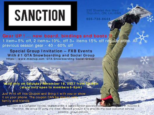 ❄Snowboarders Meet and mingle night - SANCTION SALE❄