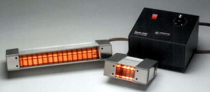 IR Line Heater utilizes quartz halogen lamp., Research, Inc.