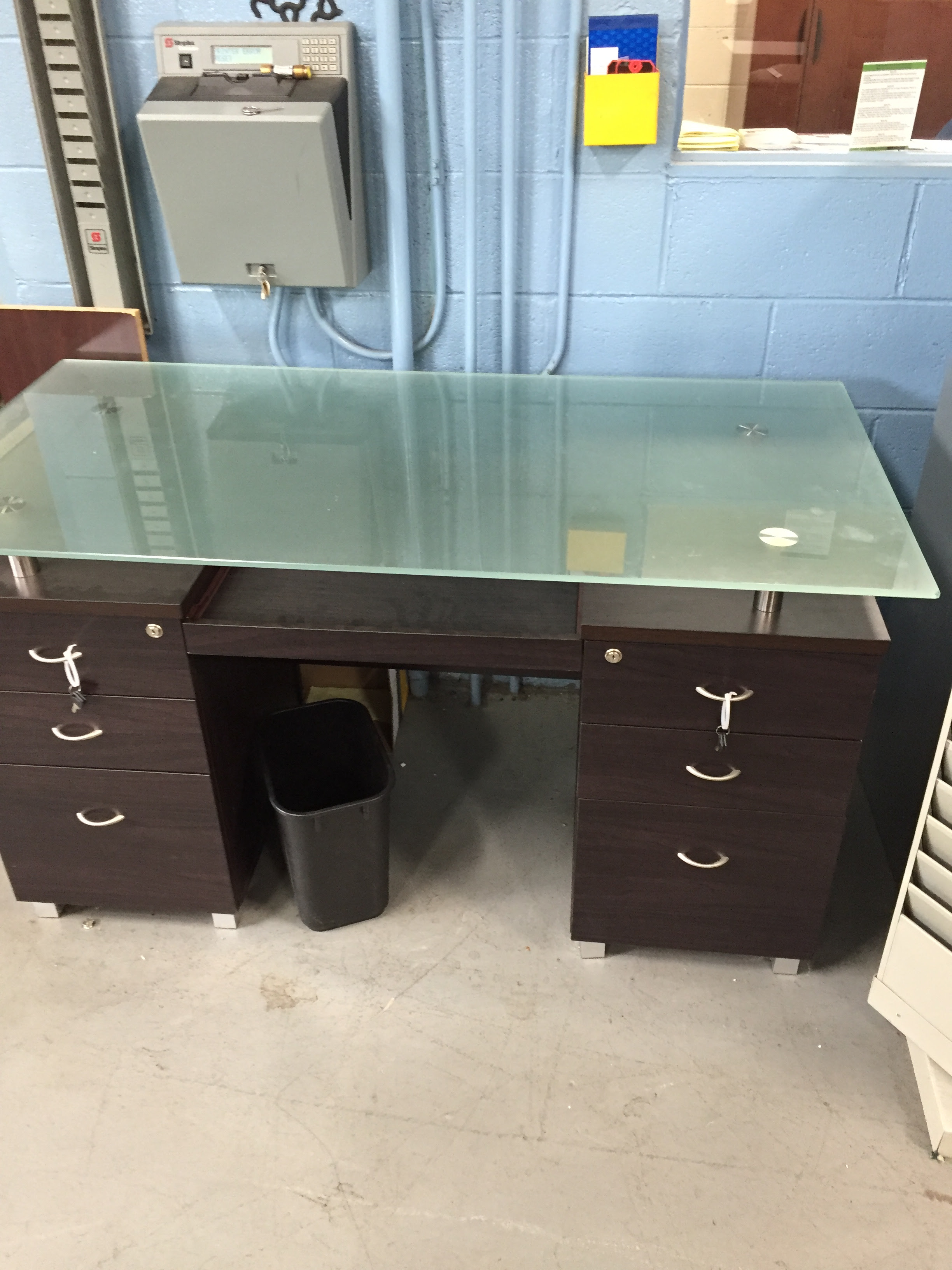 Computer Desk Glass Top Anso Office Furniture