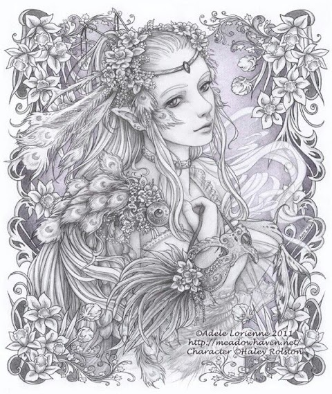 Trends For Fairy Coloring Pages For Adults