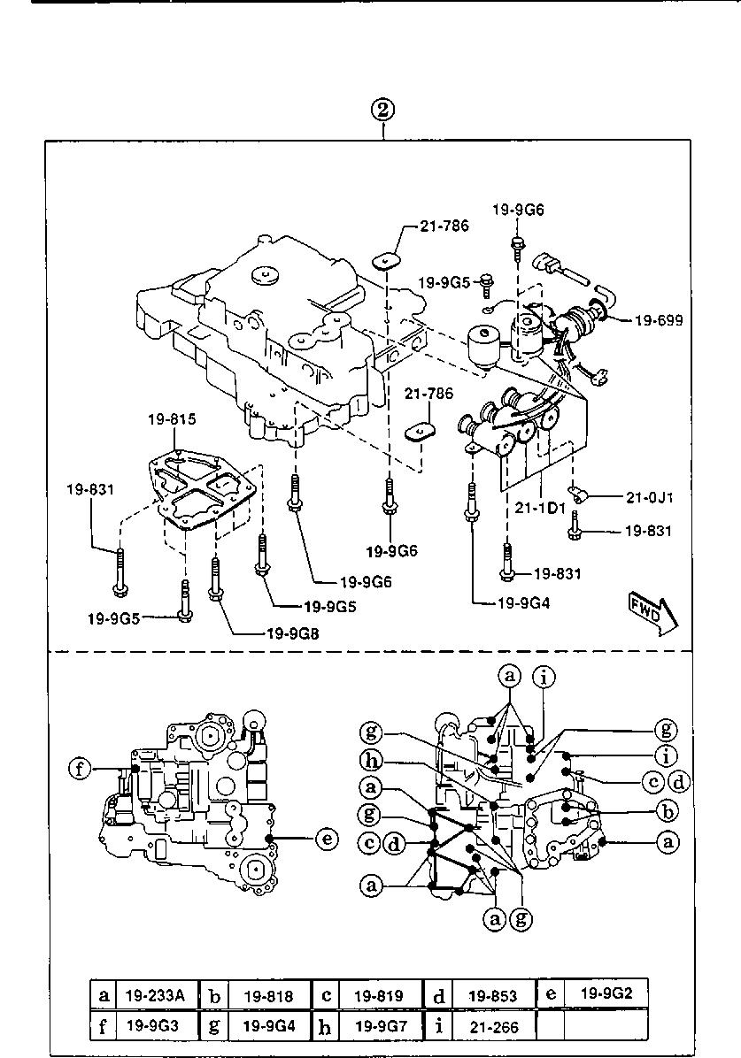 Europe Xedos 9 Ta 06 1996 Gasoline Engine V6 Cylinder Transmission 1925 Automatic Transmission Control Valve 2300cc Catcar Info