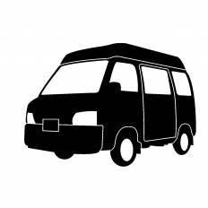 配送車シルエット イラストの無料ダウンロードサイトシルエットac