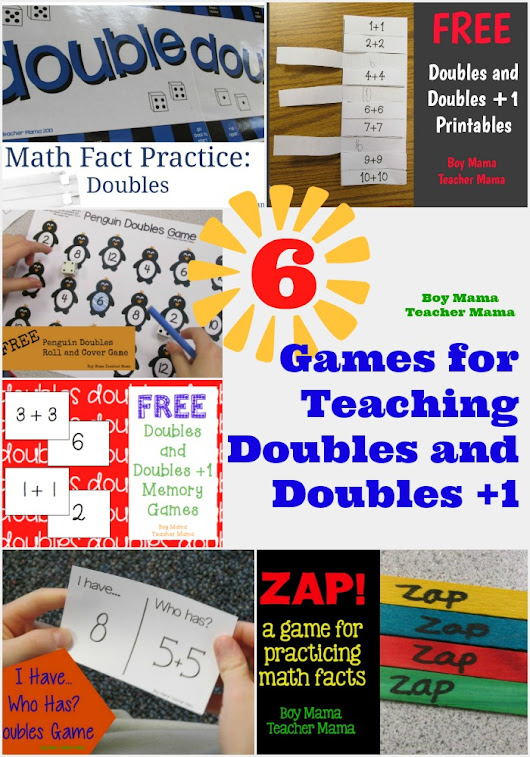 6 Games for Teaching Doubles and Doubles Plus One
