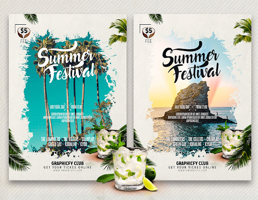 Summer Party Flyer Template - Graphicfy