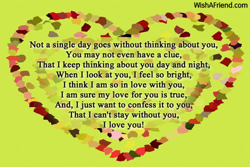 Thinking Of You Sweet Love Poem