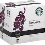 Starbucks K-Cup, Coffee, Ground, Dark Roast, Sumatra Dark - 16 pack, 0.42 oz cups