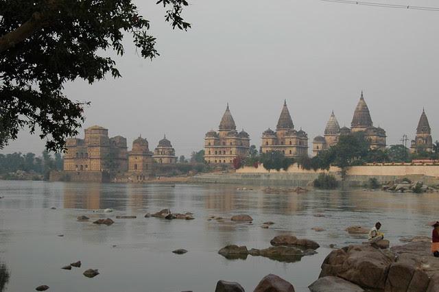 orchha en Inde et les temples