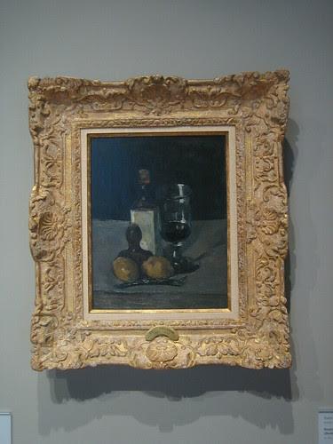 Bouteille, verre, et citrons (Bottle, Glass, and Lemons), c. 1867-69, Paul Cézanne _7733