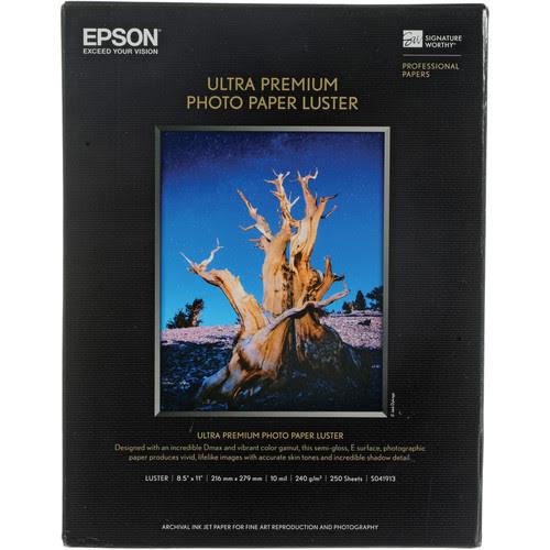 Epson Ultra Premium Photo Paper Luster Inkjet Signature Worthy Paper
