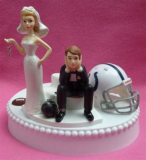 Wedding Cake Topper Indianapolis Colts Football Themed