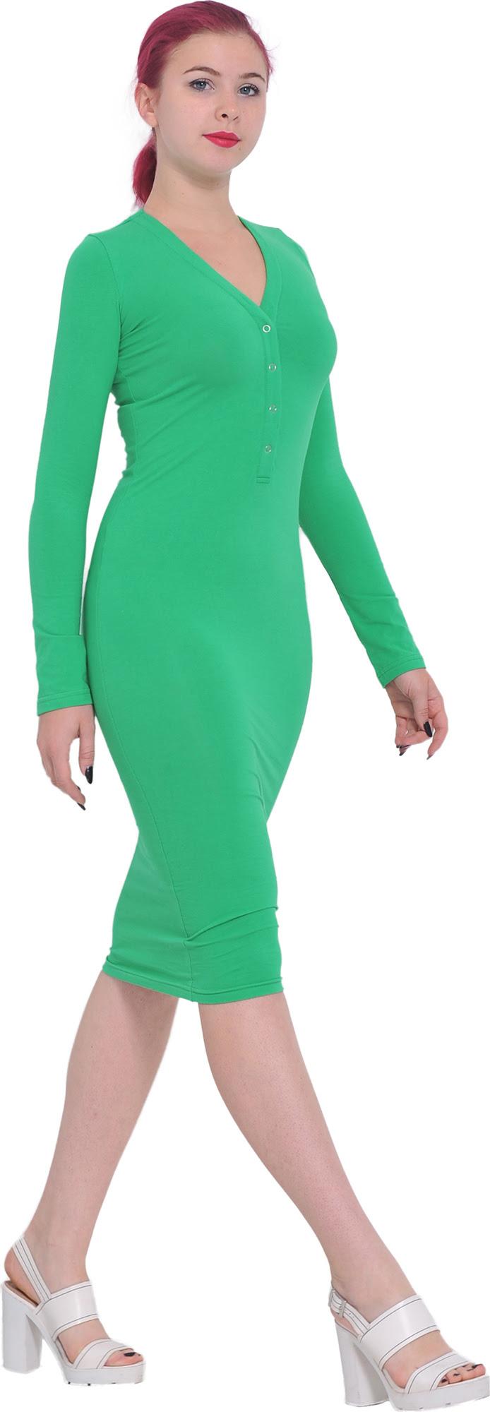 Bodycon dresses long sleeve knee length pumps