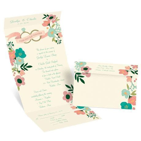 Retro Floral Seal and Send Invitation   Invitations by Dawn