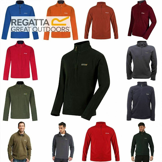 Details about  Regatta Thompson Mens Half Zip Fleece Top Jacket Pullover RMA021