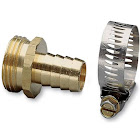 Nelson 50453 3/4-Inch Brass & Worm Gear Clamp Male Hose Repair