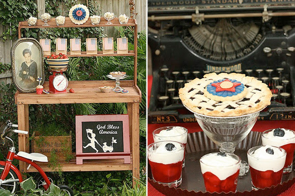 Vintage wwii  4th of July party theme