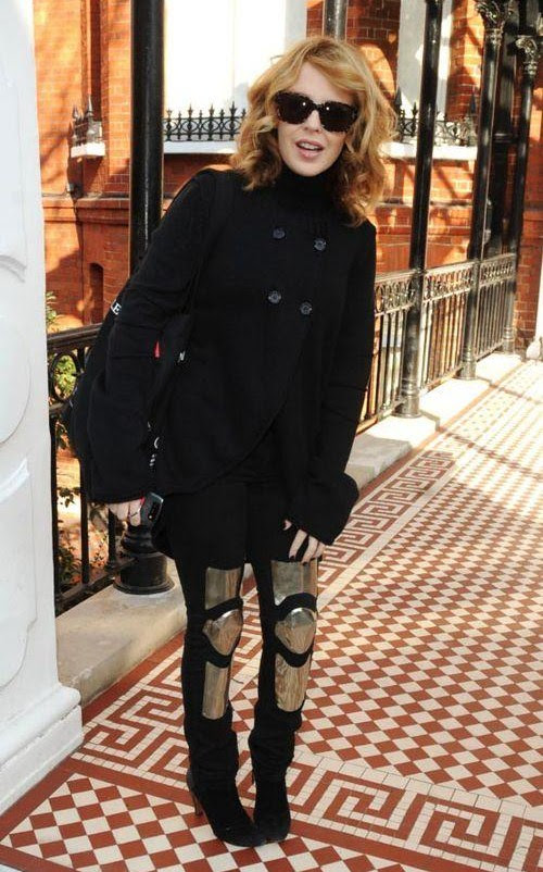 Kylie Minogue in ACNE'S collaboration Husam El Odeh 'Armour' Jeans