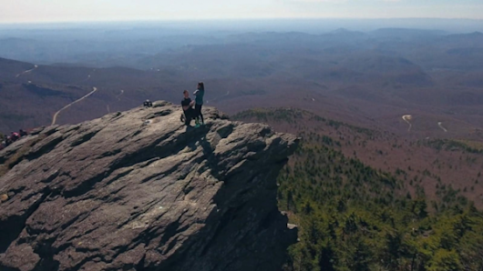Man Captures Breathtaking Mountaintop Proposal With Drone